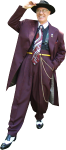 Jason Savage in his Zoot Suit.
