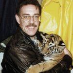 Jason holding Carmelita tiger.