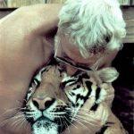 Michael Bleyman and his tiger.